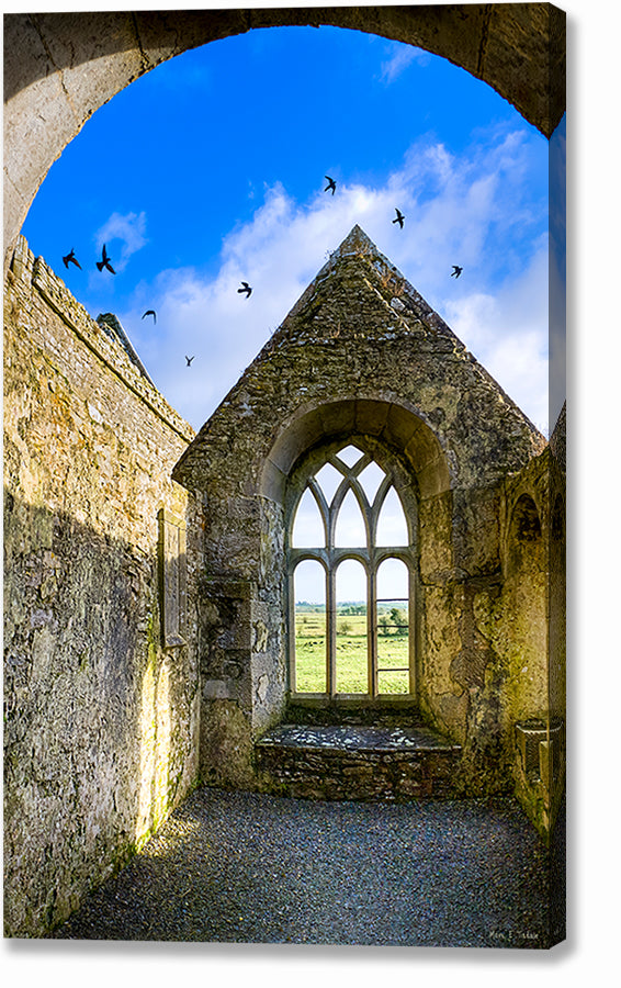 Irish Monastery Ruins - Galway Canvas Print