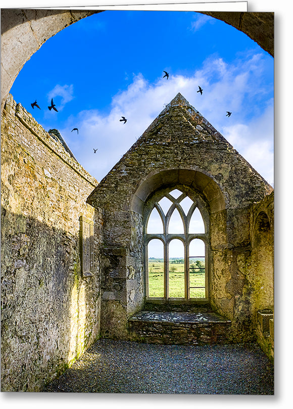 Irish Monastery Ruins - Galway Greeting Card