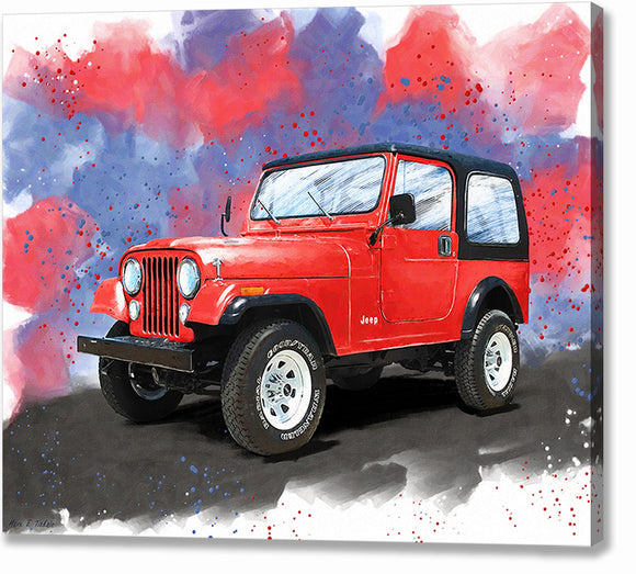 Jeep CJ-7 - Classic Automotive Canvas Print
