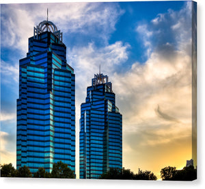 King And Queen Towers - Atlanta Landmarks Canvas Print
