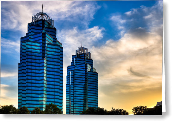King And Queen Towers - Atlanta Landmarks Greeting Card