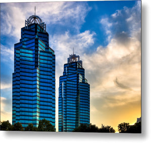 King And Queen Towers - Atlanta Landmarks Metal Print