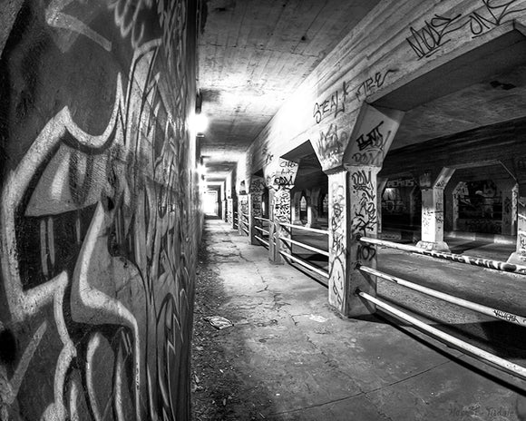 Krog Street Tunnel - Black And White Atlanta Art Print