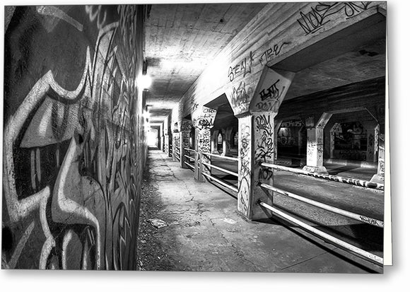 Krog Street Tunnel - Black And White Atlanta Greeting Card