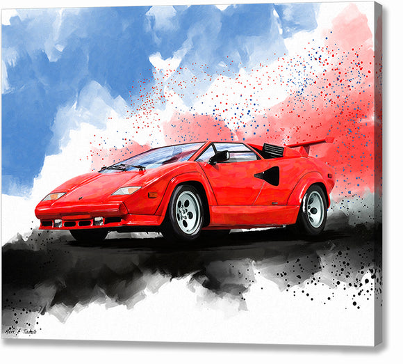 Lamborghini Countach - Classic Car Canvas Print