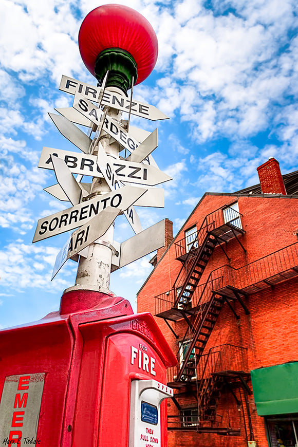 Little Italy Sign - Boston North End Art Print