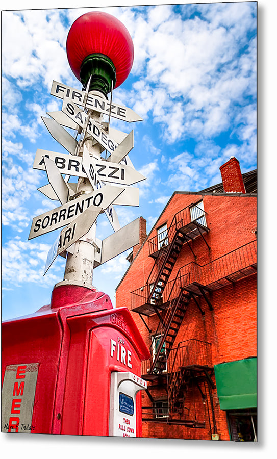 Little Italy Sign - Boston North End Metal Print
