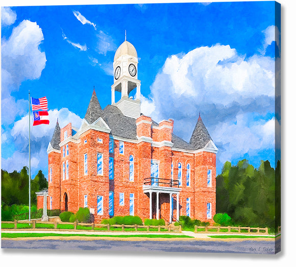 Macon County Courthouse - Georgia Canvas Print