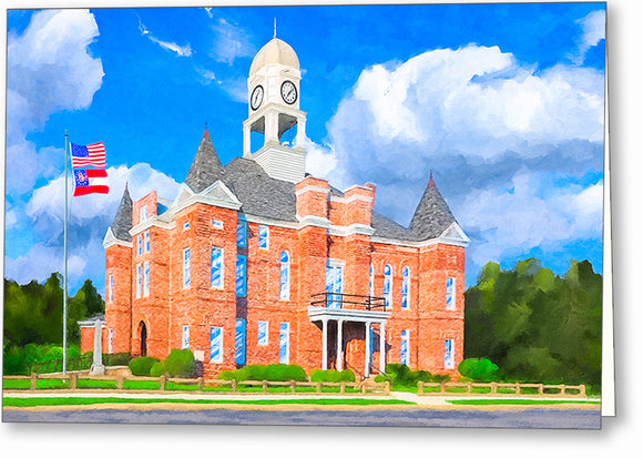 Macon County Courthouse - Georgia Greeting Card