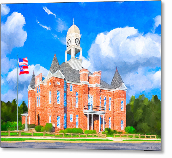 Macon County Courthouse - Georgia Metal Print