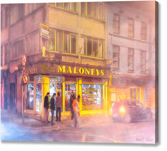 Maloneys Corner Shop - Galway Ireland Canvas Print
