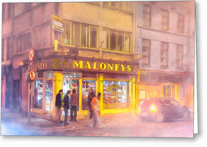 Maloneys Corner Shop - Galway Ireland Greeting Card