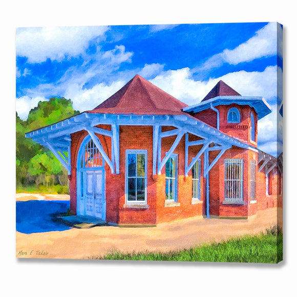 Marshallville Central of Georgia Railroad Depot Canvas Print