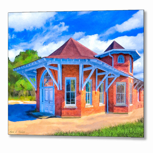 Marshallville Central of Georgia Railroad Depot Metal Print