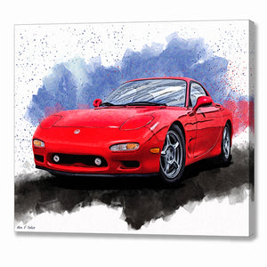Mazda RX-7 FD - Sports Car Canvas Print