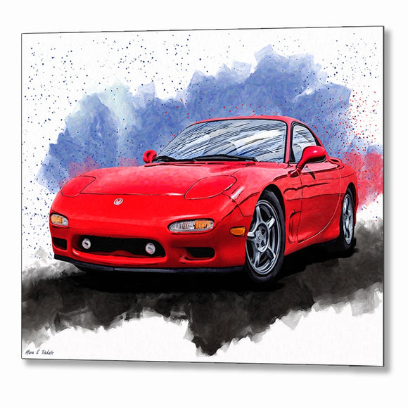 Mazda RX-7 FD - Sports Car Metal Print