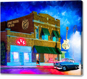 Memphis At Night - Sun Studio Canvas Print