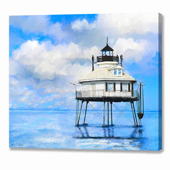 Middle Bay Lighthouse - Mobile Alabama Canvas Print