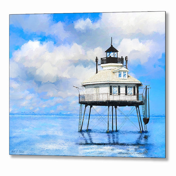 Middle Bay Lighthouse - Mobile Alabama Metal Print