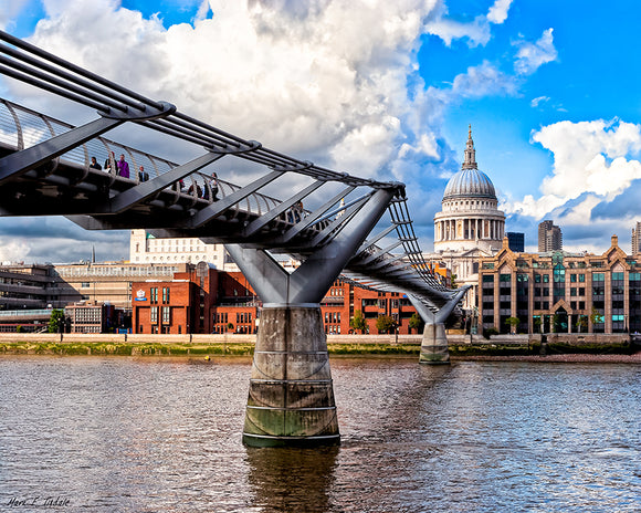 Millennium Bridge - London Architecture Art Print