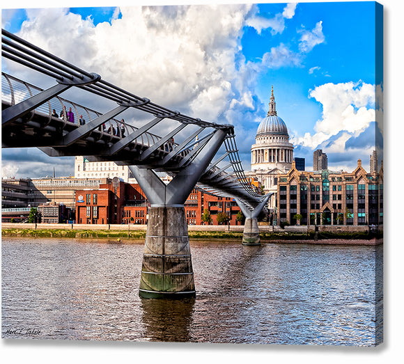 Millennium Bridge - London Architecture Canvas Print