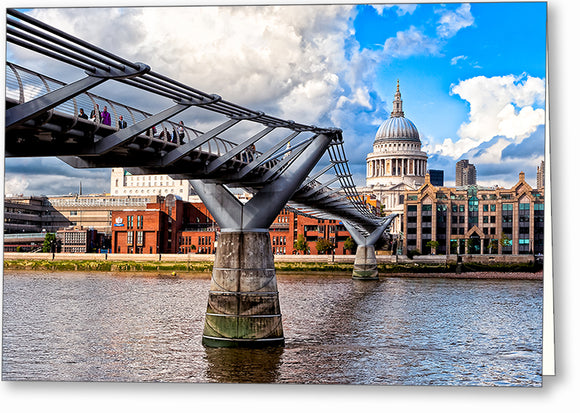 Millennium Bridge - London Architecture Greeting Card