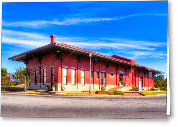 Montezuma - Central Of Georgia Depot Greeting Card