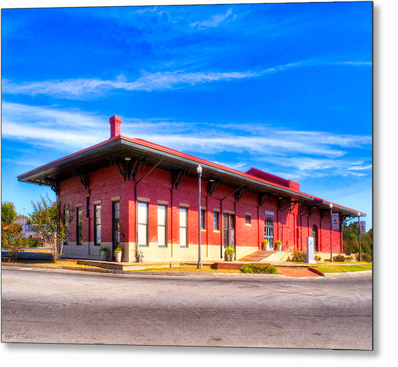 Montezuma - Central Of Georgia Depot Metal Print