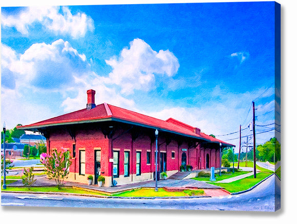 Montezuma Depot - Central of Georgia Railway Canvas Print
