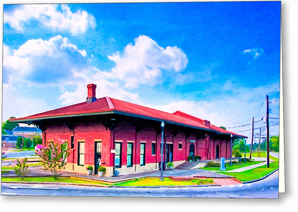 Montezuma Depot - Central of Georgia Railway Greeting Card