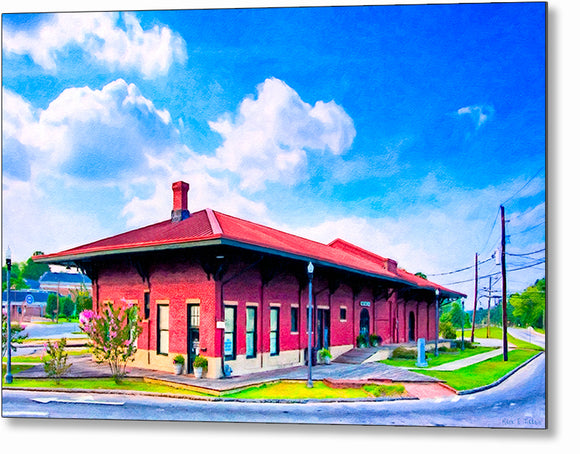 Montezuma Depot - Central of Georgia Railway Metal Print