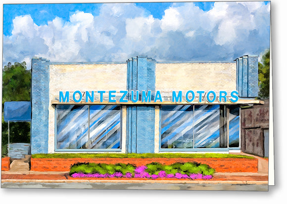 Montezuma Motors - Georgia Greeting Card
