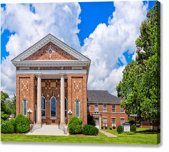 Montezuma United Methodist Church - Georgia Canvas Print