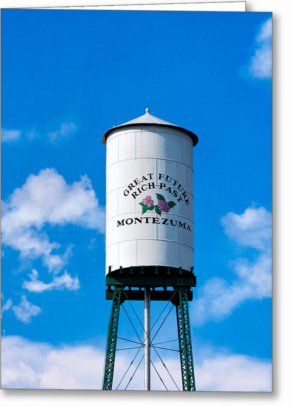 Montezuma Water Tower - Georgia Greeting Card