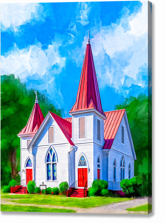Mt. Zion - St. Luke Lutheran Church - Oglethorpe Georgia Canvas Print