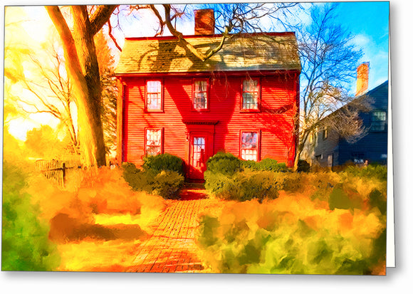 Nathaniel Hawthorne Birthplace - Historic Salem Greeting Card