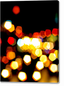 New York City Lights - Urban Abstract Canvas Print