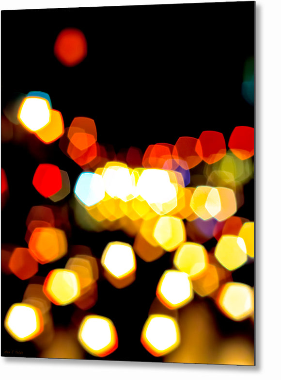 New York City Lights - Urban Abstract Metal Print