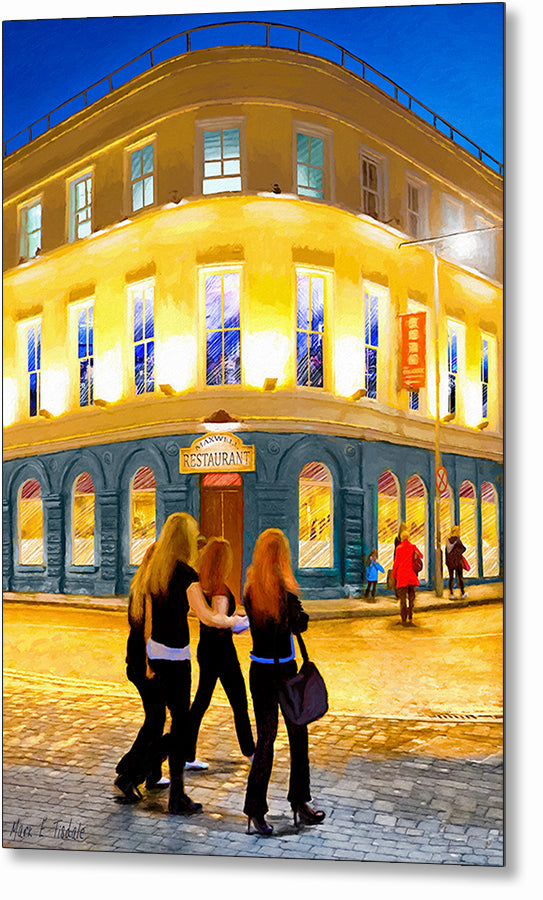 Night Out - Galway Ireland Metal Print