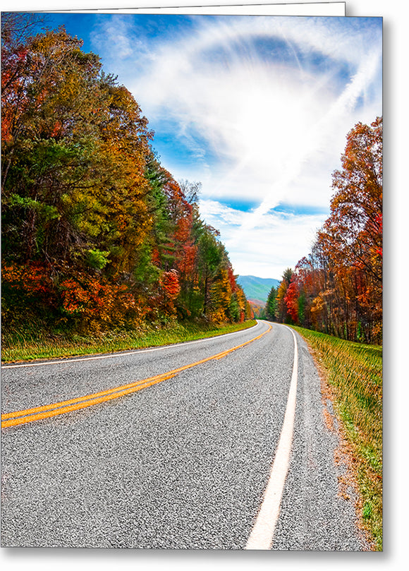 North Georgia Mountains - Fall Greeting Card