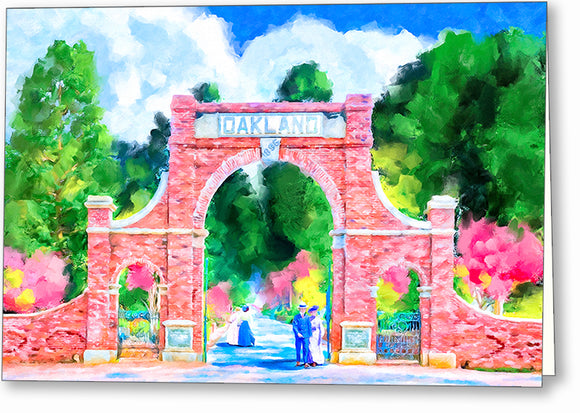 Oakland Cemetery - Atlanta Greeting Card