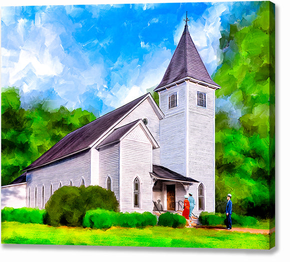 Oglethorpe United Methodist Church - Georgia Canvas Print
