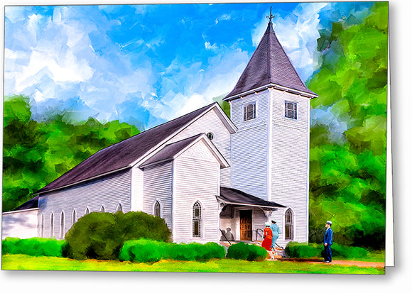 Oglethorpe United Methodist Church - Georgia Greeting Card
