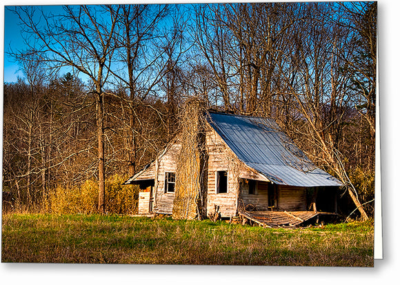 Old Cabin - North Georgia Greeting Card