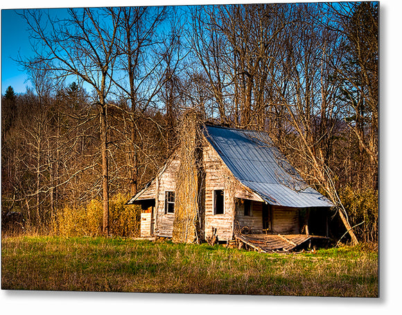 Old Cabin - North Georgia Metal Print