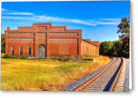 Old Cotton Warehouse - Georgia Greeting Card