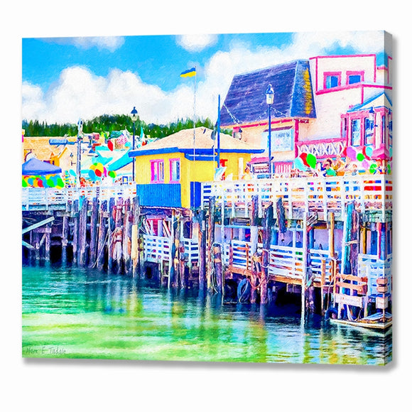 Old Fisherman's Wharf - Monterey California Canvas Print