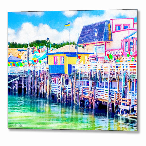 Old Fisherman's Wharf - Monterey California Metal Print