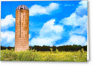 Old Grain Silo - Georgia Landscape Greeting Card