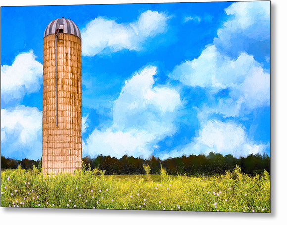 Old Grain Silo - Georgia Landscape Metal Print